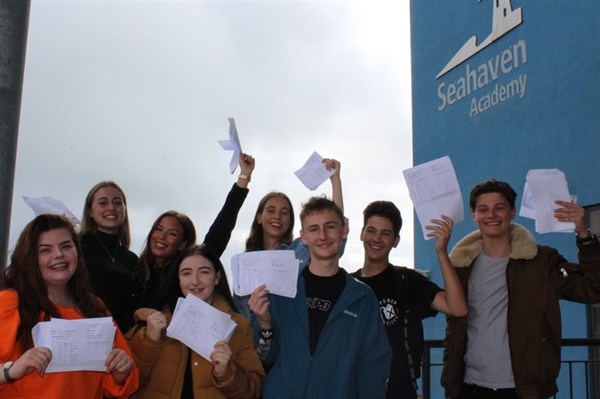 Students at Seahaven Academy celebrate success with another year of improved GCSE results
