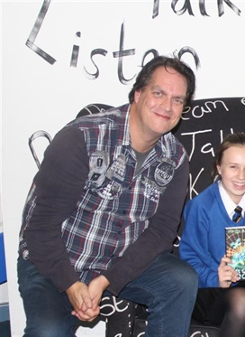 Author Andy Briggs fires students' imaginations at...