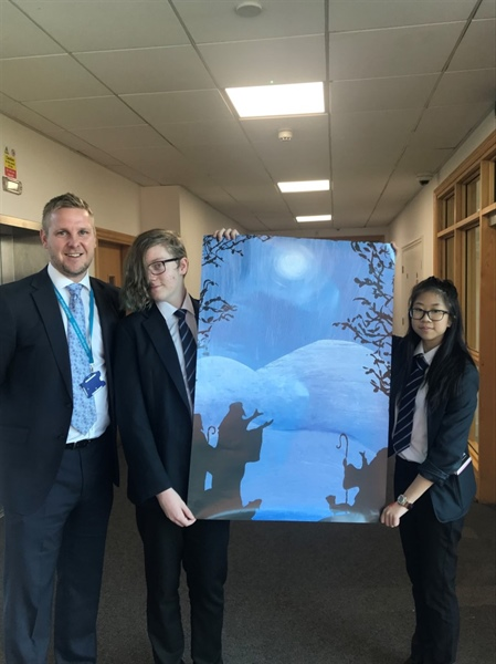 Sheffield Springs Academy duo design winning Christmas card