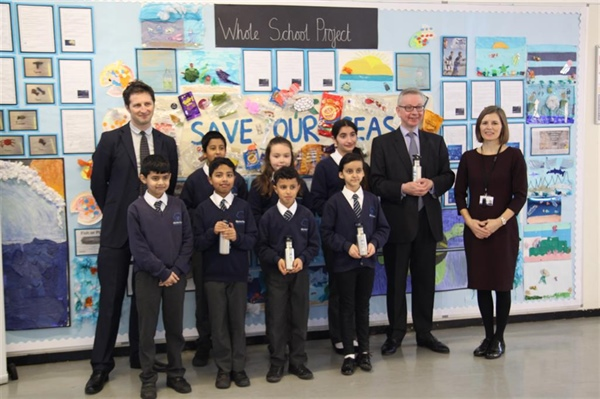 Secretary of state for the environment visits Wilberforce Primary