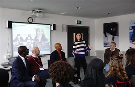 BBC's Silent Witness stars visit the Hurlingham Academy