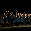 Students perform onstage at the Royal Opera House