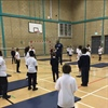 Goresbrook Pupils train with Team GB Basketball Player