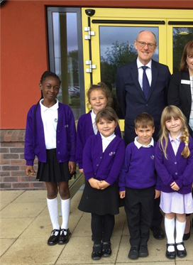 Southway Primary School welcomes the Rt Hon Nick Gibb MP...