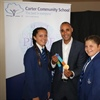 Olympic hero passes on baton of success to students at 'Pride of Carter' Awards