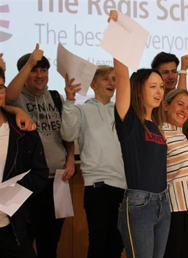The Regis School Sixth Form celebrates continued strong...