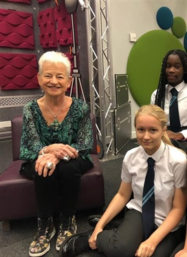 Salford students interview celebrated author Dame...