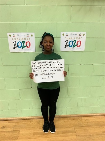 The John Roan School runs with Challenge 2020