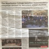 Press Cutting: The Manchester College launches apprenticeship campaign devised by secondary school students