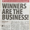 Press Cutting: Winners are the business