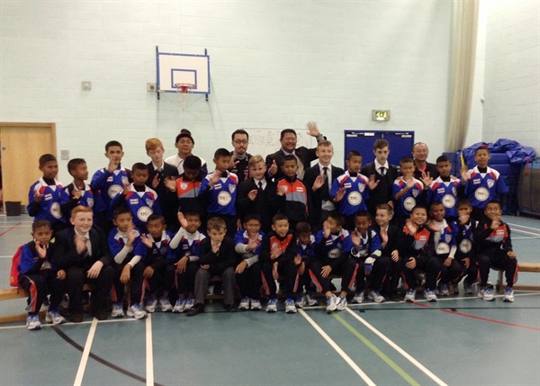 Visit to Salford City Academy a Winner for Thai Football Team