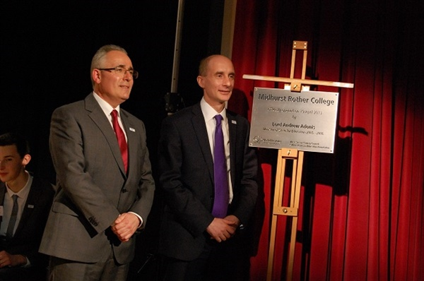 Lord Adonis Officially Opens Midhurst Rother College