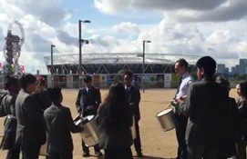 Spirit of Rio Day 3: Walthamstow Academy's Samba Band Take to the Olympic Park