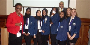 Manchester Academy girls find out about a career in the police