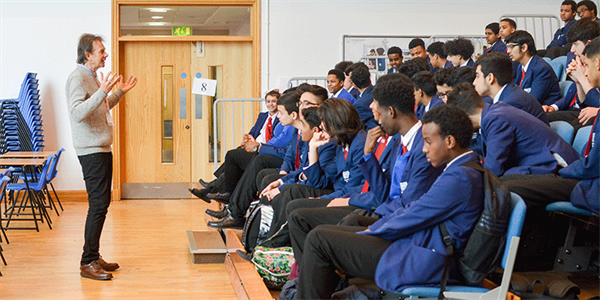 Leading local historian Michael Wood takes Manchester Academy students on a trip through time