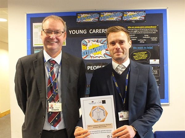 William Hulme's Grammar School receives Young Carer Award