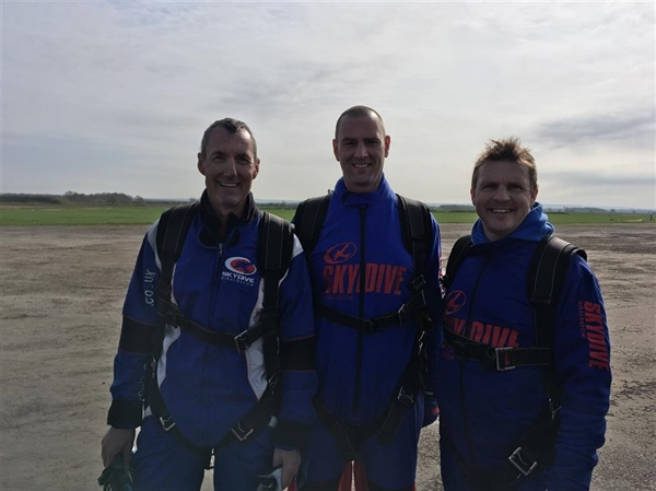 Sheffield Park and Springs Academies go skydiving in support of Weston Park