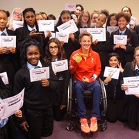 Rio Paralympic champion Emma Wiggs Opens Lambeth Academy's Sensory Room and Garden