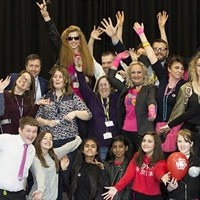 Northampton Academy students judge teachers' talents for Red Nose Day!